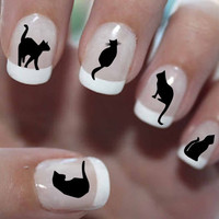 51 DECALS Black Cats 1  Familiar Symbols  Nail by NorthofSalem