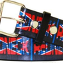 Amazon.com: Redneck with Rebel Flag Leather Belt - Small 28-32: Clothing