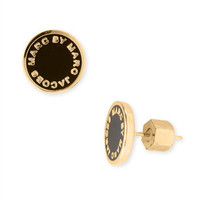 MARC BY MARC JACOBS Enamel Logo Disc Earrings | Nordstrom