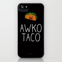 Awko Taco iPhone Case by RexLambo