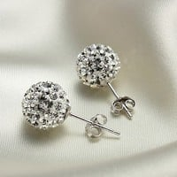 accessoryinlove — Cute 925 Sterling Silver Austria Rhinestone Earrings
