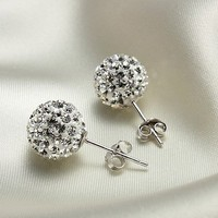 accessoryinlove  Cute 925 Sterling Silver Austria Rhinestone Earrings