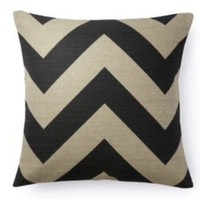 One Kings Lane - The Bright Stuff - Chevron Pillow, Black/Taupe