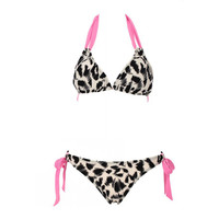 Leopard Triangle Top & Side-tie Bottom — Faboutique