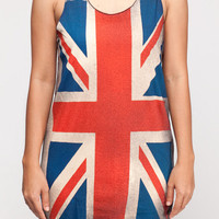 British Union Jack Flag Shirt UK Flag Top Women Tank Top Black Shirt Tunic Top Vest Sleeveless Women T-Shirt Size S M