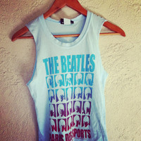 Studded The Beatles crop top  by NewSpiritVintage on Etsy