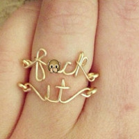 The &quot;Fck It&quot; Rings (as seen on Pinterest) Mature listing
