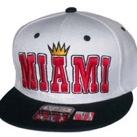 Amazon.com: King of Miami White/Black Snapback Hat Cap Heat Colorway: Clothing