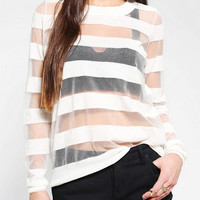 Sparkle &amp; Fade Floating Stripe Sweater