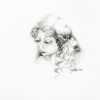 A Simple Girl an Original Drawing Fine Art by ABitofWhimsyArt