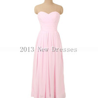 Cheap 2013 New Sweetheart neck with empire waist floor-length chiffon Prom Evening Dresses Party Dresses
