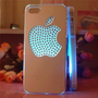 Flash Light Case Cover for Apple Iphone 5 LED LCD 7 Color Change - Aluminum Big Diomand Apple + a Screen Protector and a Stylus As Gifts - Silver White: Cell Phones &amp; Accessories