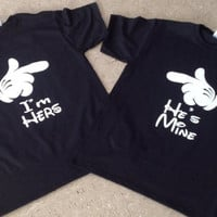 Printed T-Shirt- I&#x27;m Hers He&#x27;s Mine