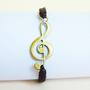 Large Treble Clef Bracelet - Music Bracelet - G-Clef Bracelet - Gift for Musician - Treble Clef Jewelry - Gift under 15