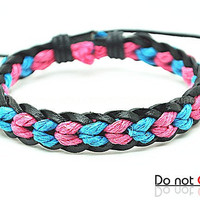 fashion Adjustable leather Cotton Rope Woven Bracelets mens bracelet cool bracelet jewelry bracelet bangle bracelet  cuff bracelet 2208S