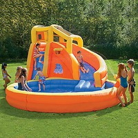 Typhoon Twist Inflatable Water Slide with Pool