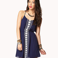Embroidered Boho Shift Dress