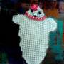 Pretty in Pink Ghost Pin or Magnet a Ghostgap design