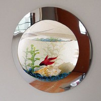 Reflection Fish Bubble - Deluxe Mirrored Wall Mounted Fish Tank