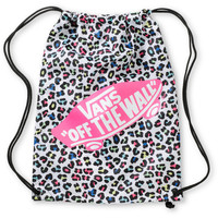 Vans White &amp; Pink Leopard Print Drawstring Bag