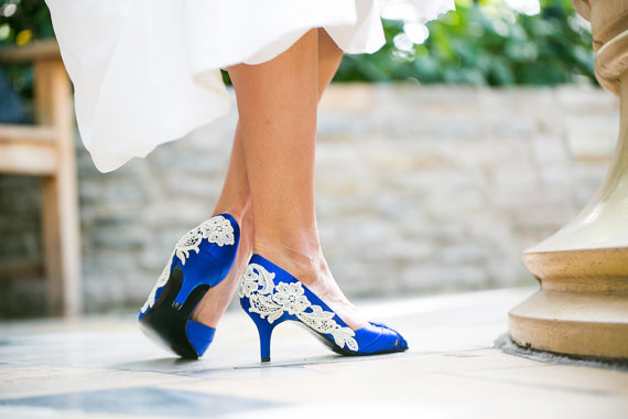 Wedding Shoes Royal Blue Wedding Heels From Walkinonair On