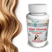 Grow Longer, Thicker Hair Products - by Planet Ayurveda - 100% Safe Herbal Hair Growth Pills for Fast Hair Growth Super Strength formula for