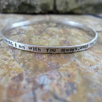 Personalized Bangle Bracelet Sterling by DreamingTreeCreation