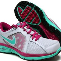 Amazon.com: Nike Dual Fusion Run White/Green: Shoes