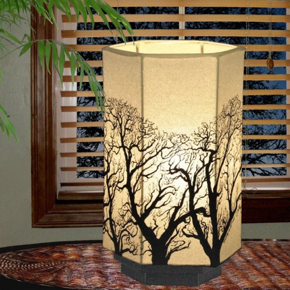 Table Lamp Tree Design by earthsteps on Etsy
