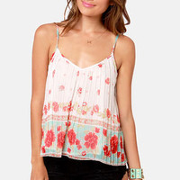 Billabong Dare to Sun Cream Floral Print Tank Top