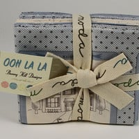 Ooh La La fat quarter bundle, Moda Fabrics, Bunny Hill Designs, Blue