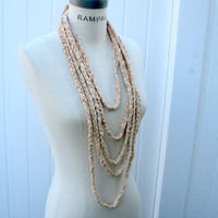 Chain Infinity Scarf Braided Necklace Scarf  FREE SHIPPING Scarves Retro Scarf - By PIYOYO