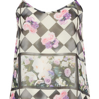 Floral Checkerboard Cami Top - Sale - Sale & Offers - Topshop USA