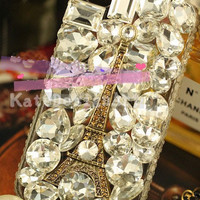 full crystal iphone case - bling bling iphone hard cover, handmade iphone 4s case,unique iphone 5 case