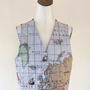 World Map Atlas Tapestry Vest Shirt Top