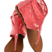 End Of The Road Trip Sandal in Coral | Mod Retro Vintage Sandals | ModCloth.com