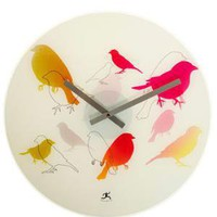 Watercolor Canary Clock | Mod Retro Vintage Wall Decor | ModCloth.com