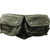 Dark green FESTIVAL POCKET BELT, utility belt, fanny pack