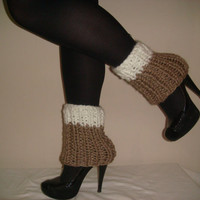 Knitted 100% Wool Boot Cuffs, Boot Toppers, Boot Socks, Leg Warmers, Ankle Warmers, Christmas, Gift, Textured and Stretchy by Arzu&#x27;s Style