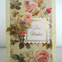 Cottage chic Birthday card