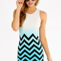 Mink Pink Chevron Mini Dress $70