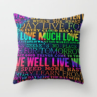 wise words Throw Pillow by  Alexia Miles photography