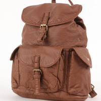 Kirra Solid Faux Leather Backpack at PacSun.com
