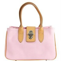 EA Two Tone Turn-Lock Satchel Made In Italy - EA Handbags New Summer Collection - Modnique.com
