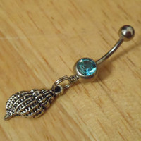 Belly button ring - Body Jewelry - Shell Belly Button Ring