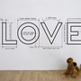 Love Is - Decal for housewares