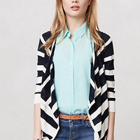 Knotted Stripes Cardigan