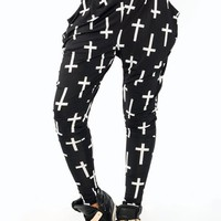 cross-printed-harem-pants BLACKWHITE WHITEBLACK - GoJane.com