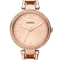 Fossil 'Georgia' Crystal Bezel Watch, 32mm | Nordstrom