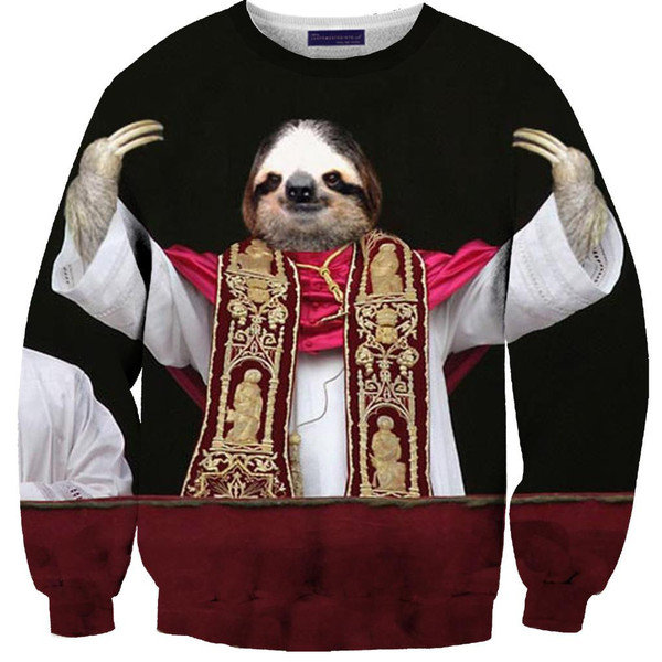 Sloth Pope Sweater from Shelfies Epic Wishlist Ig7l78gd